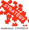 Strategy Puzzle Showing Plans And Tactics - stock photo