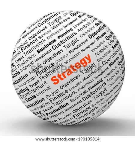 Strategy Sphere Definition Showing Successful Planning Organization Or Management