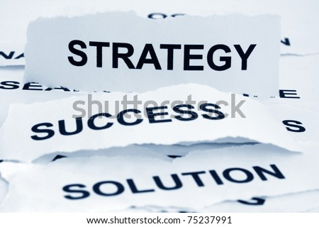 Strategy- success - solution - stock photo