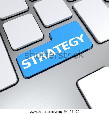 Strategy Text Thumbs Symbol On Keyboard Stock Illustration 94121470