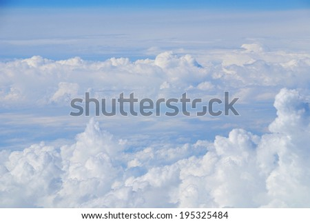 Strato above the clouds - stock photo