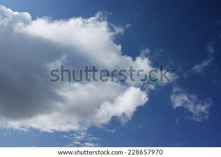 Stratocumulus clouds on blue sky