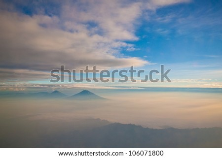 Stratus  Cloud in morning at the java