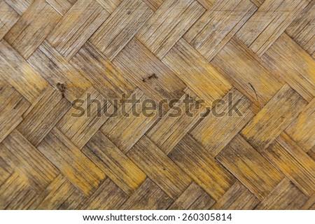 straw background, basket weave, texture. - stock photo
