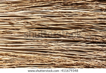 Straw broom texture. Background and texture for design.
