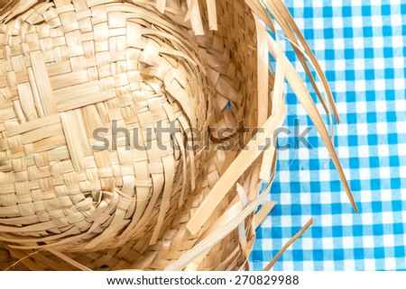 Straw Hat on the table (Festa Junina Theme) - stock photo