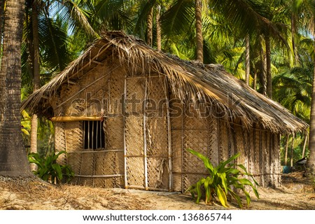 Straw House Stock Images, Royalty-Free Images & Vectors ... House Made Of Sticks Cartoon