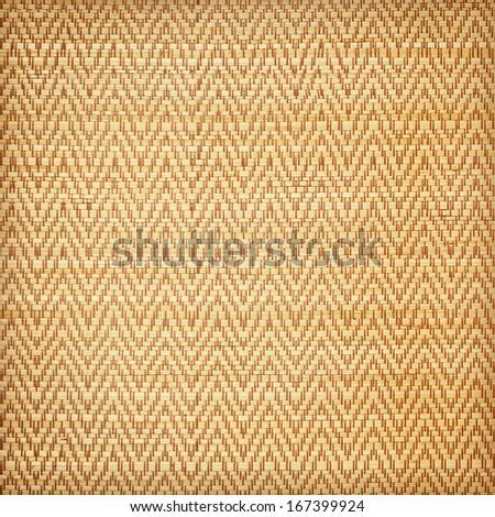 straw mat background - stock photo