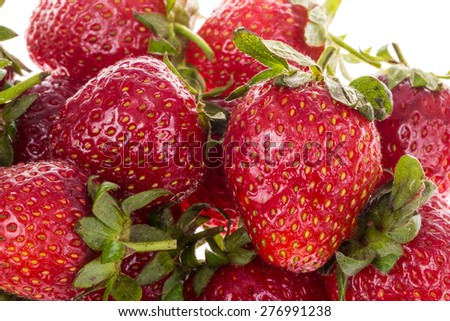 strawberries as a background - stock photo