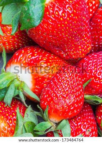 strawberries background - stock photo