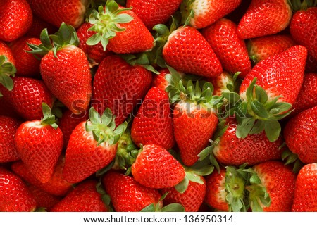 Strawberries clean and simple