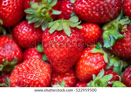 Strawberries Close-up Shot with Calyx