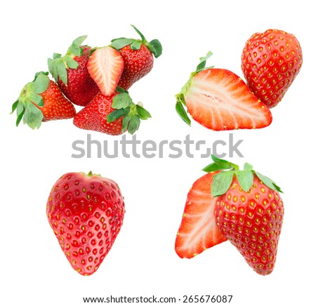 Strawberries collection