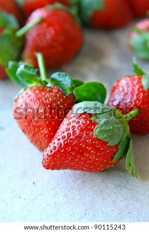 strawberries fruit - stock photo