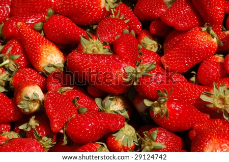 strawberries in the  background