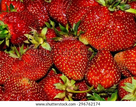 strawberries in the background. fresh fruit