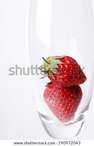 strawberries in the cup
