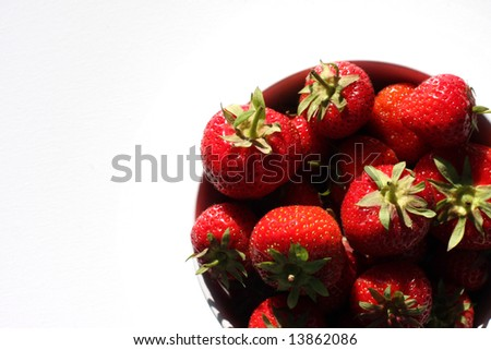 Strawberries isolated
