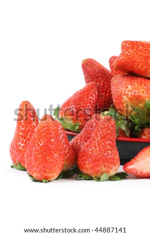 Strawberries isolated over white background