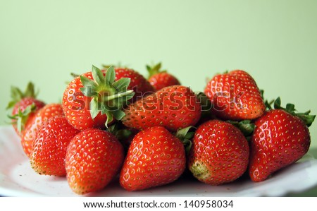 Strawberries on the plate