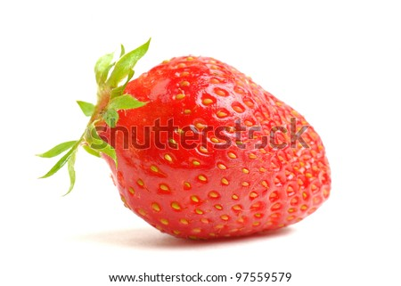 strawberries on white zone