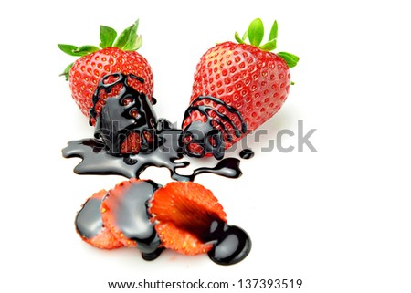 strawberries with chocolate