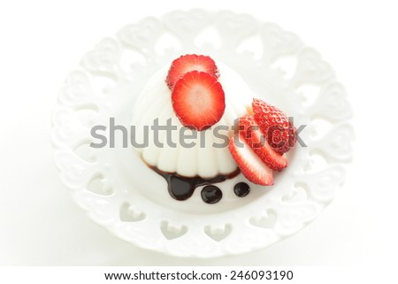 Strawberry and Kanten Jelly - stock photo