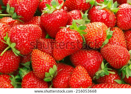 Strawberry background - stock photo