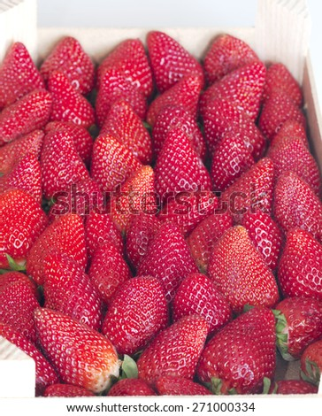 Strawberry background - stock photo