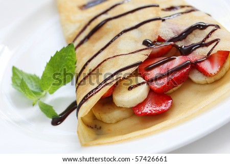 Strawberry crepe cake Stock Photos, Images, & Pictures | Shutterstock