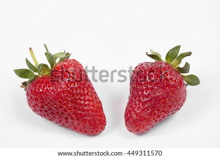 strawberry berry fruit red juicy sweet dessert summer food fresh tasty - stock photo