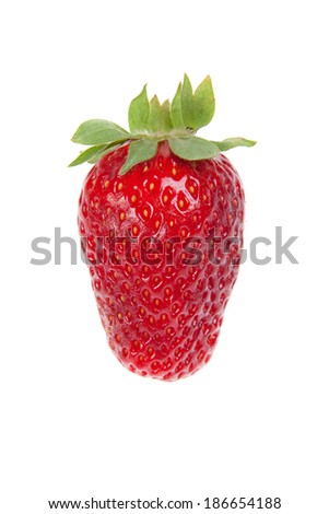 strawberry berry, isolated on white background