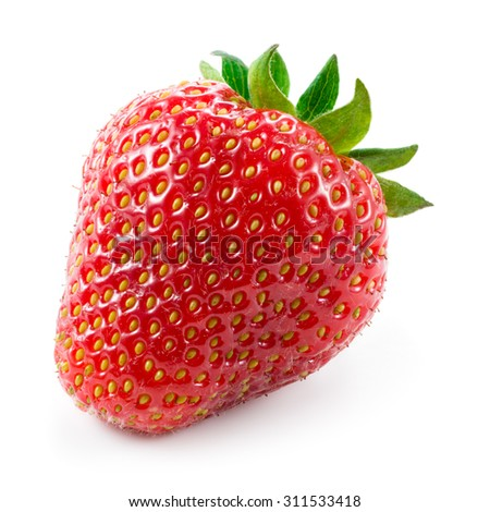 Strawberry. Berry isolated on white background - stock photo