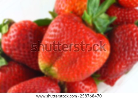 Strawberry blur - stock photo