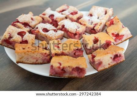 Strawberry Cake - stock photo