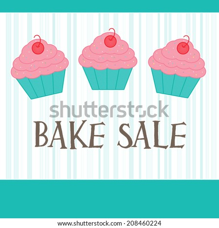 Strawberry Cherry Cupcakes - Bake Sale - stock photo