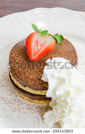 Strawberry Chocolate pudding pancake