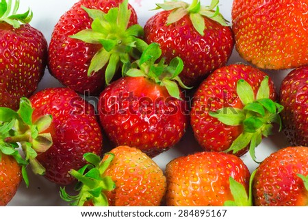 strawberry closeup of tasty berries useful to humans