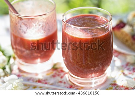 Strawberry coctail  - stock photo