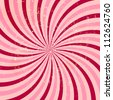 Strawberry, cream abstract hypnotic background. Raster version. - stock photo