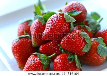 Strawberry fruit - stock photo