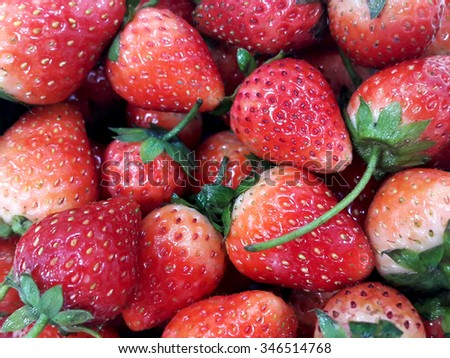 Strawberry grewn and sold in Thailand market