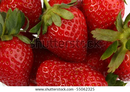 Strawberry group - stock photo
