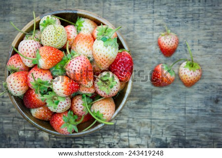 Strawberry in a Bowl  - stock photo