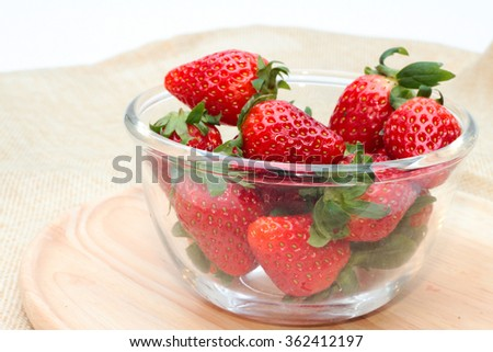 Strawberry in bowl