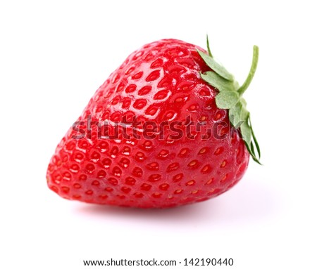 Strawberry in closeup - stock photo