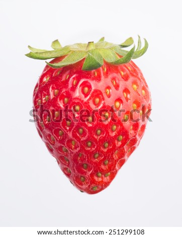 strawberry isolated - stock photo