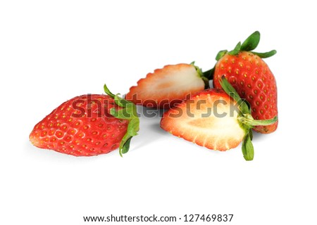 Strawberry isolated on a white background. selective focus.