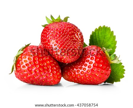 Strawberry isolated on white background clipping path