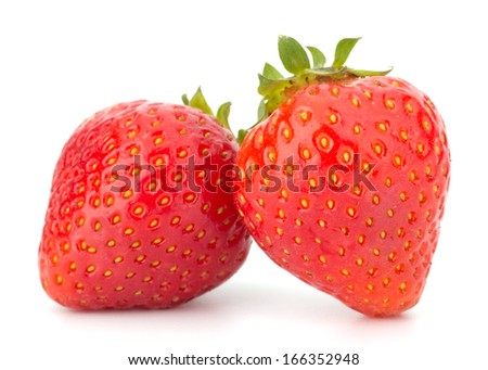 Strawberry isolated on white background closeup - stock photo